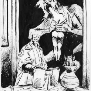Hellboy and Saturn